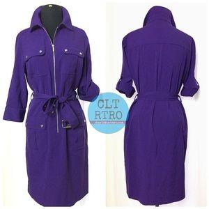 Michael Kors Purple Shift Dress